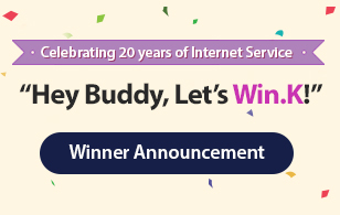 Hey Buddy, Let's Win.K!