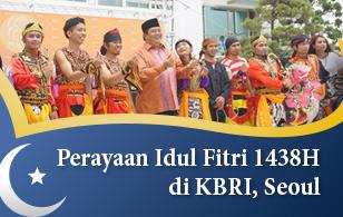 Perayaan Idul Fitri 1438H di KBRI, Seoul