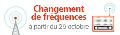 Nos fréquences à partir du 30 octobre