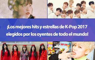 ¡Los mejores hits y estrellas de K-Pop 2017 elegidos por los oyentes de todo el mundo!
