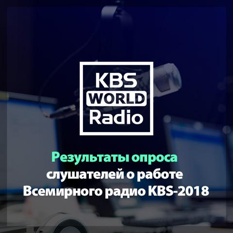 Результаты опроса слушателей о работе Всемирного радио KBS-2018