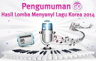 Pengumuman Hasil Lomba Menyanyi Lagu Korea 2014