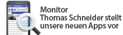 Monitor Thomas Schneider stellt unsere neuen Apps vor