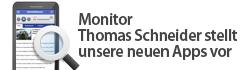Monitor Thomas Schneider stellt unsere neuen Apps vor