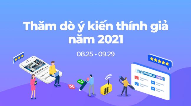 Thăm dò ý kiến thính giả năm 2021