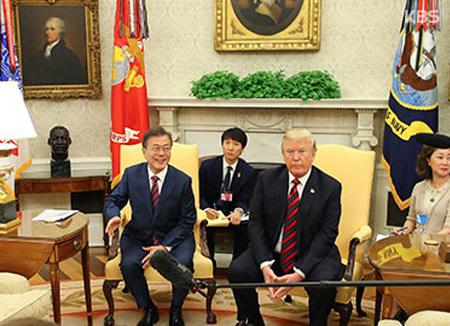 북미 정상회담을 계기로 열린 한미 정상회담