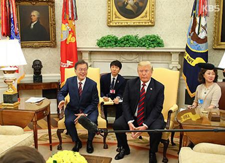 Sommet entre Corée du Sud et Etats-Unis, avant la rencontre Trump-Kim