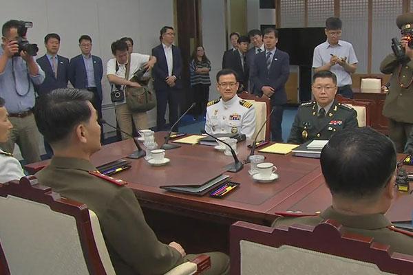 南北韩时隔47天再次举行将军级军事会谈