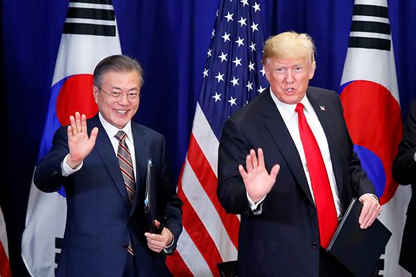 Südkoreas Präsident Moon trifft Trump in New York