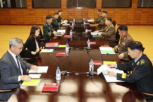 Süd- und Nordkorea machen Grenzort Panmunjom zur waffenfreien Zone