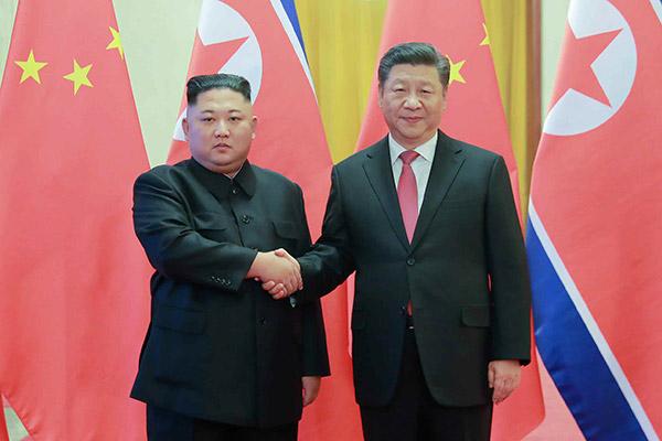 북한 김정은 국무위원장의 중국 방문