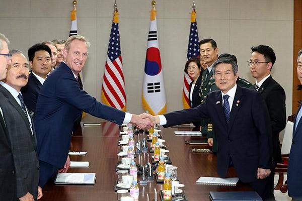 韩美防长在首尔举行会谈
