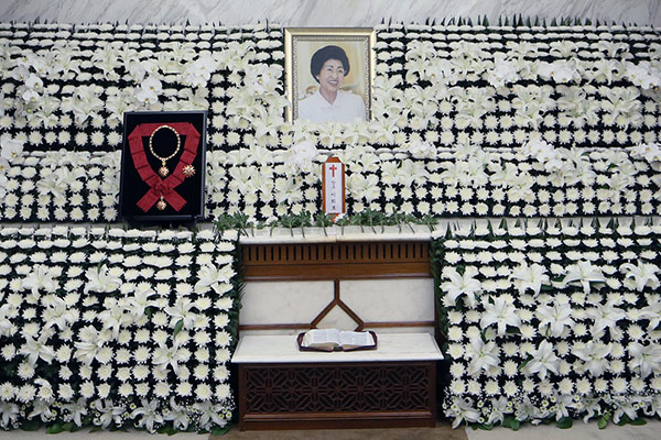 故金大中元大統領の妻で、女性運動家の李姫鎬さん