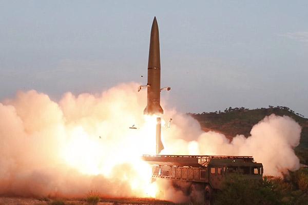 إطلاق الصواريخ  بصورة متعاقبة من قبل كوريا الشمالية