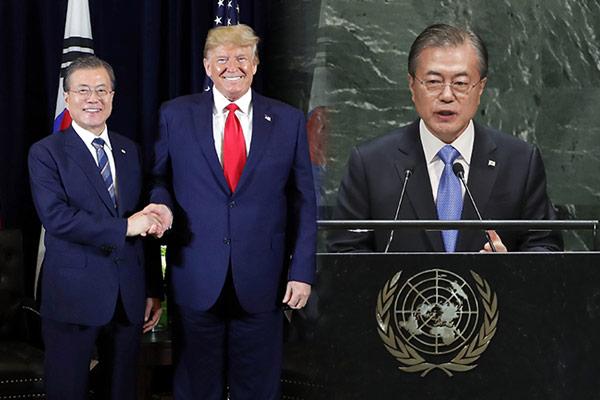 """""""مون"""" يعقد قمة مع """"ترامب"""" ، ويلقي خطابًا في الأمم المتحدة"""