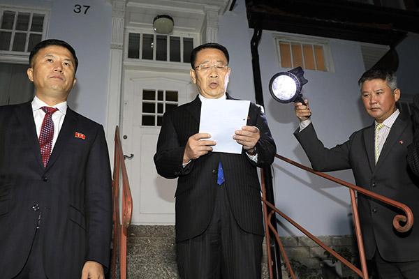 المحادثات النووية بين كوريا الشمالية والولايات المتحدة في ستكهولم لم تنته باتفاق