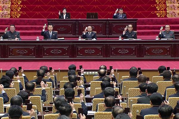 12일 개최된 북한 최고인민회의