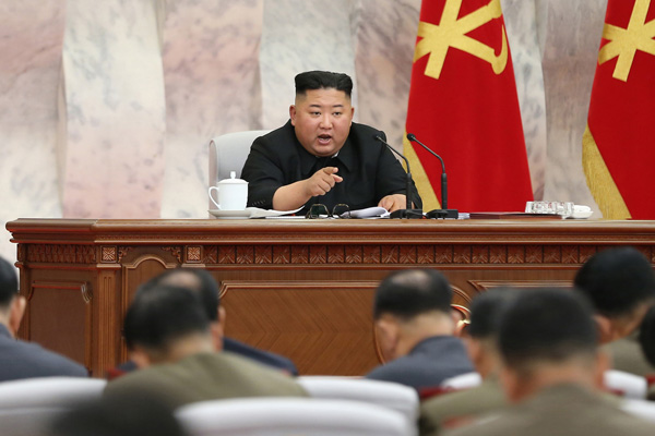 北韩国务委员会委员长金正恩再次提及强化核遏制力