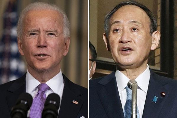 بايدن وسوغا يتفقان على ضرورة نزع السلاح النووي من شبه الجزيرة الكورية