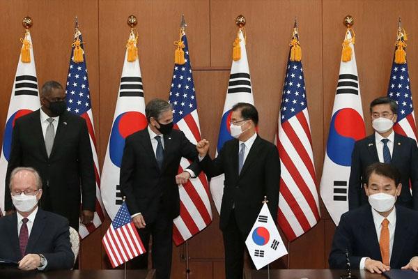 Réunion des ministres des Affaires étrangères et de la Défense de la Corée du Sud et des États-Unis