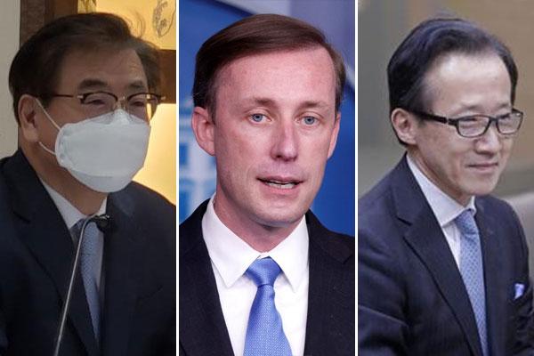 Das Treffen der nationalen Sicherheitsberater der USA, Südkoreas und Japans