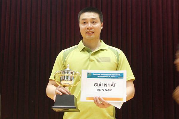 Giải cầu lông cộng đồng người Việt tranh cúp SEOUL TECH 2019 thu hút gần 100 vận động viên tham gia thi đấu