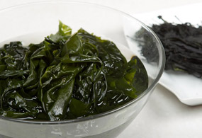 Wash dried seaweed in water and soak for about 1-2 hours. Rinse well.