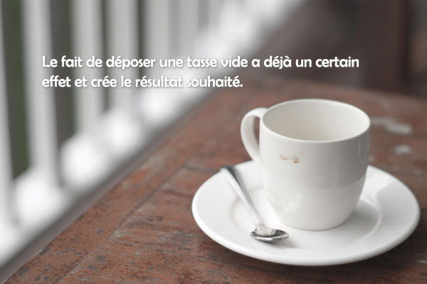 « Déposer une tasse de thé vide » de Kwon Yeo-seon
