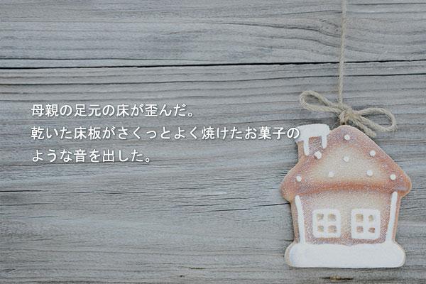 河成蘭(ハ・ソンナン)の短編小説「ウエハースで作った家」
