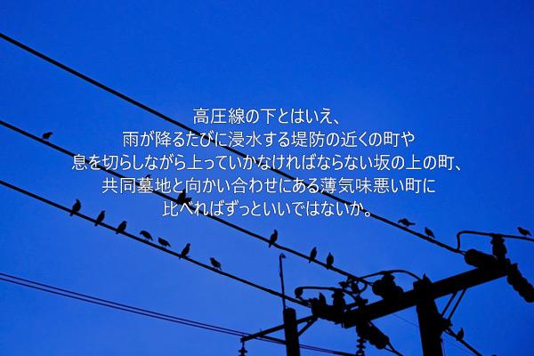 趙善作(チョ・ソンジャク)の短編小説「高圧線」