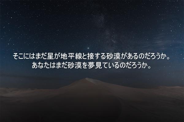 チョン・ソンランの短編小説「砂漠へ」