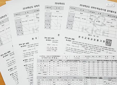 にせの就学能力試験成績表