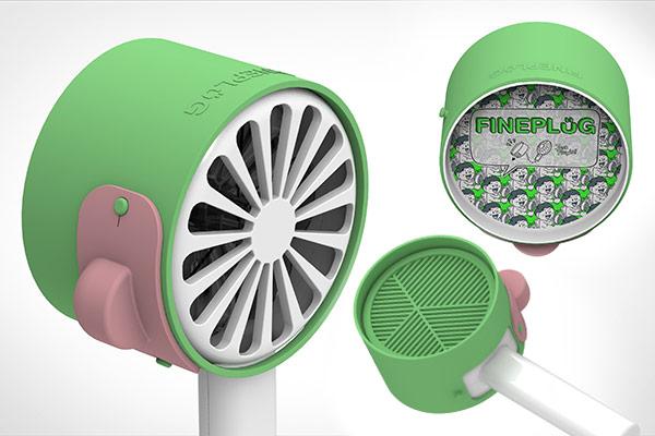 ミニ扇風機に取り付けるタイプの空気清浄機を開発した「ディスコバレー」