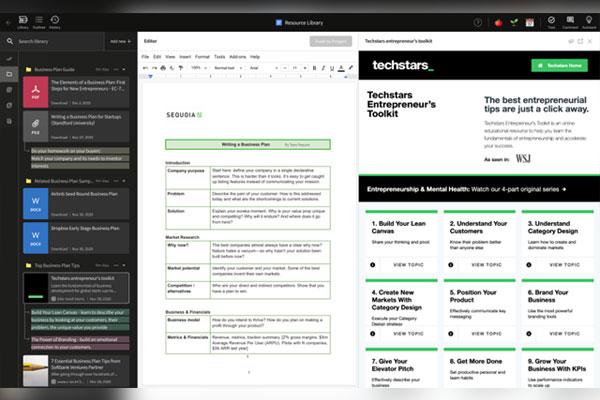 ドキュメント作成プラットフォームを開発・提供する「ビジネスキャンバス」
