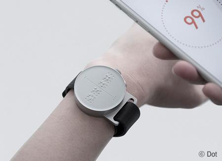 Dot, reloj inteligente para personas con discapacidad visual