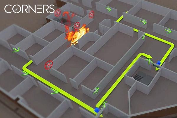 Corners – doanh nghiệp sở hữu hệ thống hướng dẫn thoát hiểm thông minh