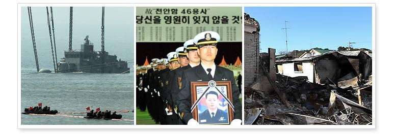 1. 北韓が相次いで武力挑発、民間人の死者も