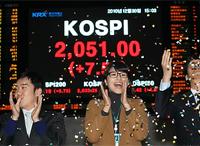 7. 総合株価指数2051ポイント 最高値更新で大納会