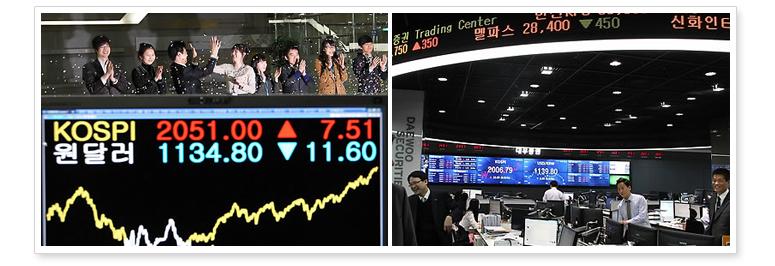 7. Показатель фондового индекса KOSPI впервые за три года превысил 2.000 пунктов