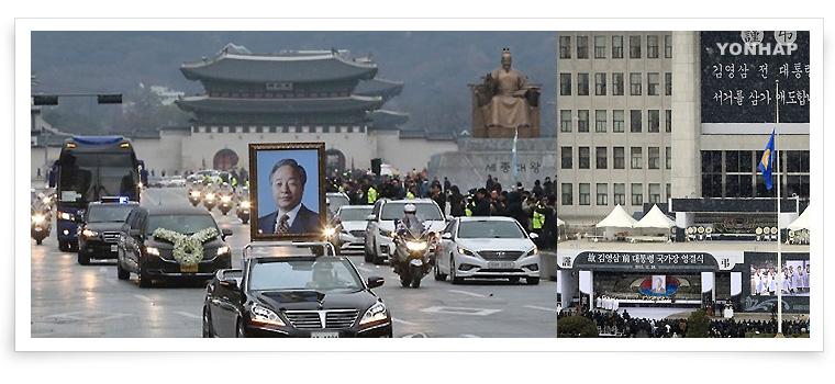 7. 金泳三元大統領が死去