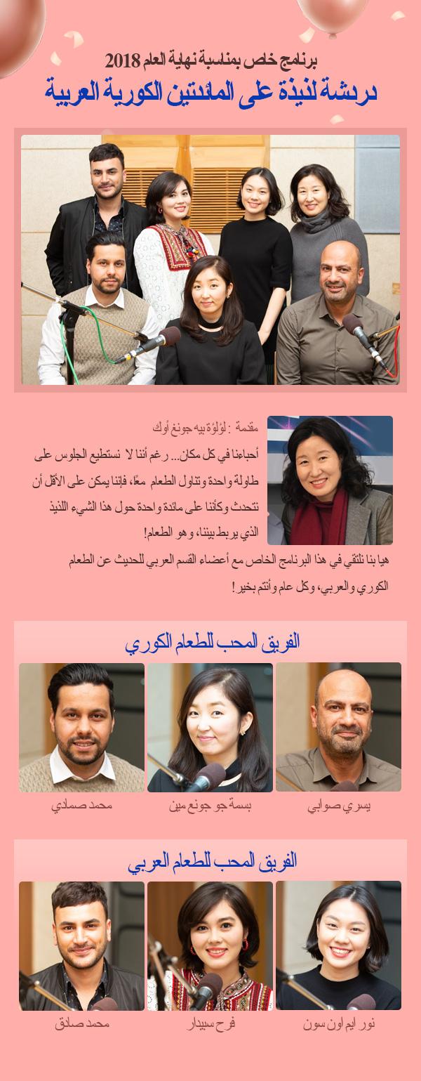 دردشة لذيذة على المائدتين الكورية العربية