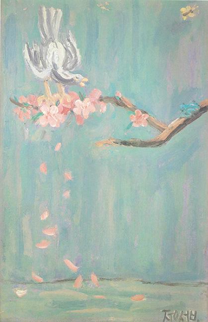 벚꽃 위의 새