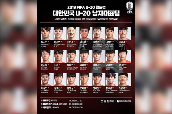 "Confirman los ""Guerreros Taeguk"" para el Mundial Sub-20 de la FIFA"