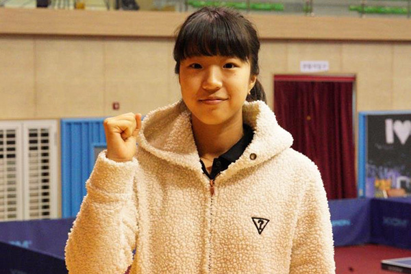 La selección nacional de tenis de mesa ficha a una quinceañera