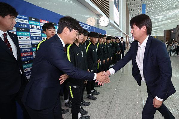 Selección surcoreana Fútbol Sub-17 viaja a Brasil