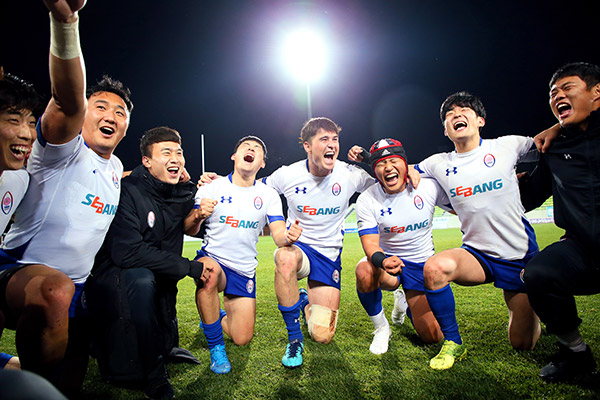 El rugby masculino surcoreano marca presencia