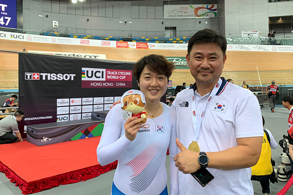 Lee Hye Jin logra un oro en el mundial de ciclismo