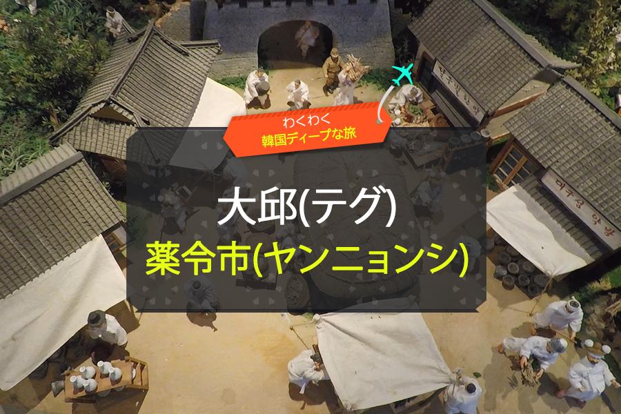 #03. 大邱(テグ)薬令市(ヤンニョンシ)