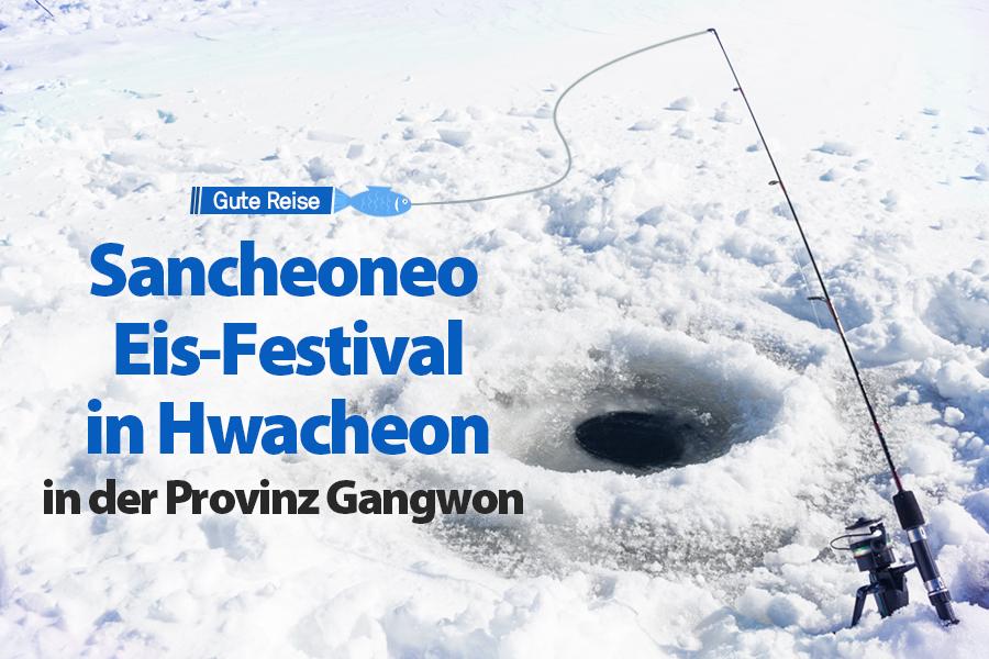 #46. Sancheoneo Eis-Festival in Hwacheon in der Provinz Gangwon