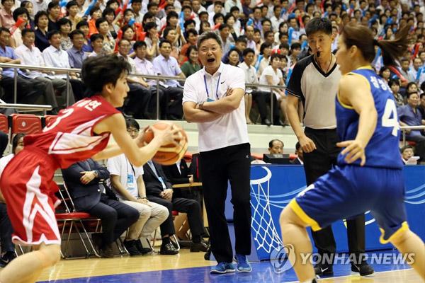 南北韩举行统一篮球赛
